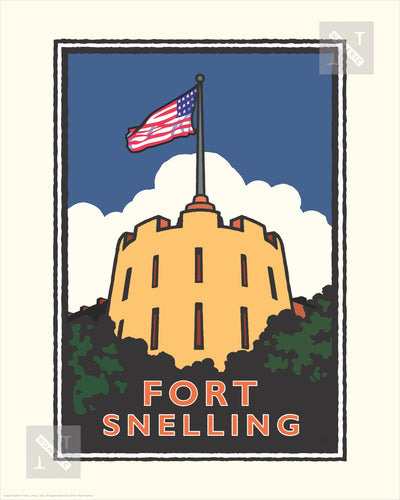 Fort Snelling - Landmark Series Print