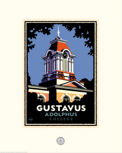 "Gustavus ""Old Main Tower"" - Landmark University Series Print"