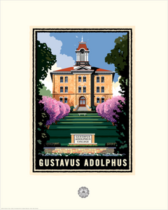 "Gustavus ""Old Main"" - Landmark University Series Card"