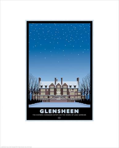 Glensheen Mansion Winter - Landmark Series Card