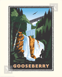 Gooseberry Falls - Landmark Series Print