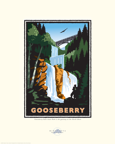 Gooseberry Falls - Landmark Series Card