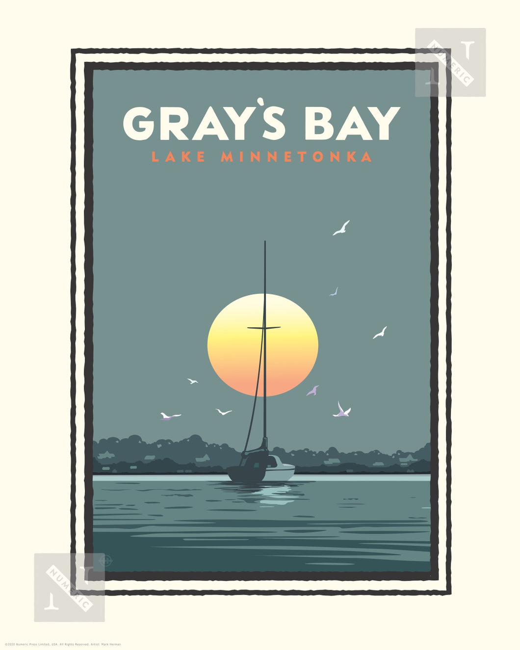 Lake Minnetonka Gray's Bay - Landmark Series Print