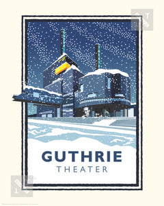 Guthrie Theater Winter - Landmark Series Print
