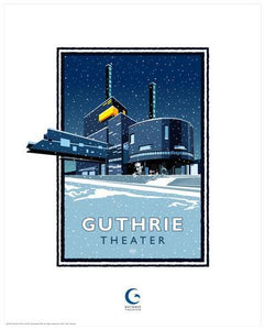 Guthrie Theater Winter - Landmark Series Card