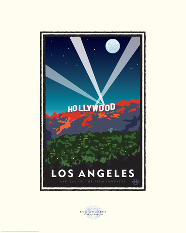 Hollywood Nights - Landmark Series California Card