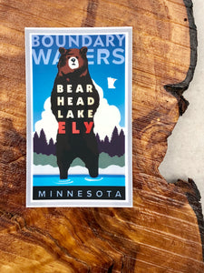 Ely Bear Head Lake Sticker