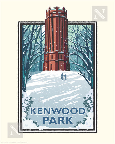 Kenwood Park Winter - Landmark Series Print