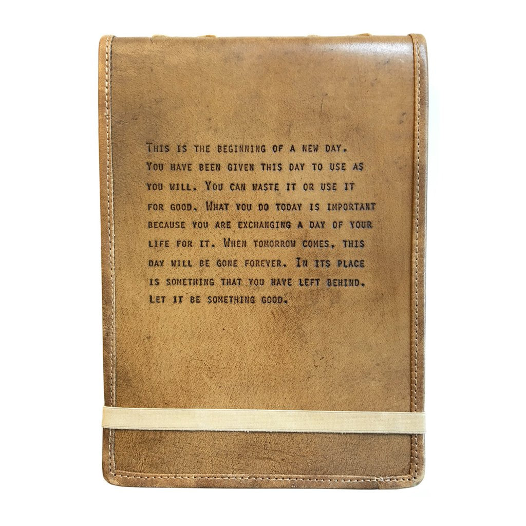 Brown Leather Journal Unknown Quote Piccadilly Prairie