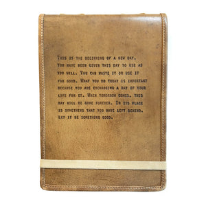 "Brown Leather Journal - ""This is the beginning..."""