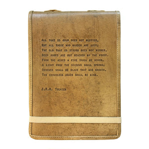 Brown Leather Journal - J.R.R. Tolkien Quote