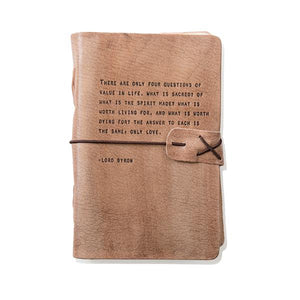 Blush Leather Journal - Lord Byron Quote