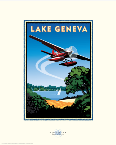 Lake Geneva - Landmark Series Card