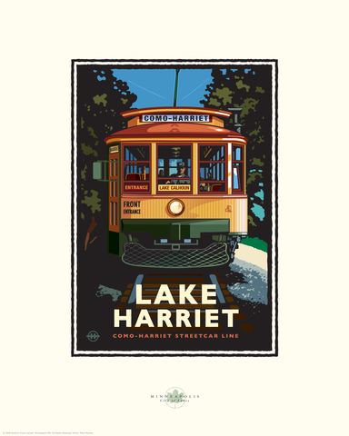 Lake Harriet Trolley - Landmark Landmark Series Card
