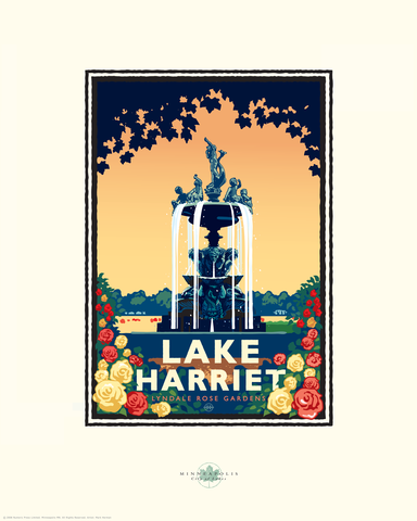 Lake Harriet Rose Garden - Landmark Landmark Series Card