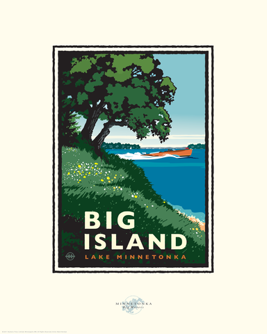 Lake Minnetonka Big Island - Landmark Series Card