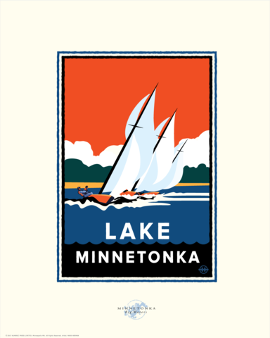 Lake Minnetonka Regatta - Landmark Series Card
