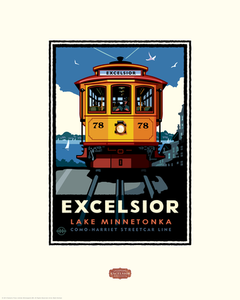 Lake Minnetonka Excelsior Trolley - Landmark Series Card