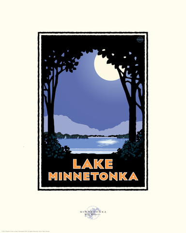 Lake Minnetonka Moonlight - Landmark Series Card