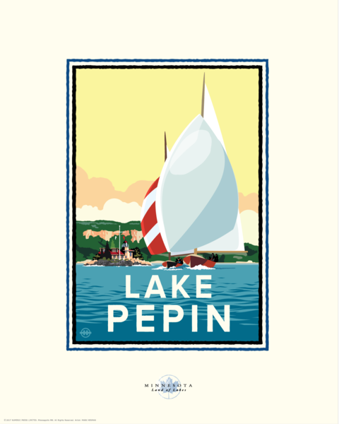 Lake Pepin - Landmark Series Card