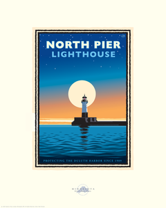 Lake Superior North Pier Lighthouse - Landmark Series Card