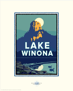 Lake Winona - Landmark Series Card