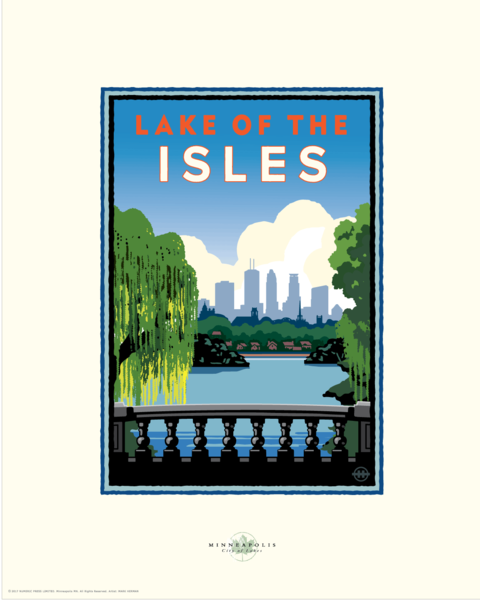 Lake of the Isles City View - Landmark Series Card