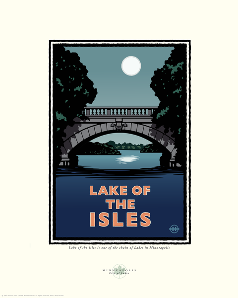 Lake of the Isles Night - Landmark Series Card