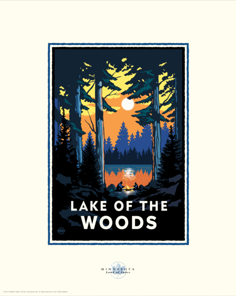 Lake of the Woods - Landmark Series Card