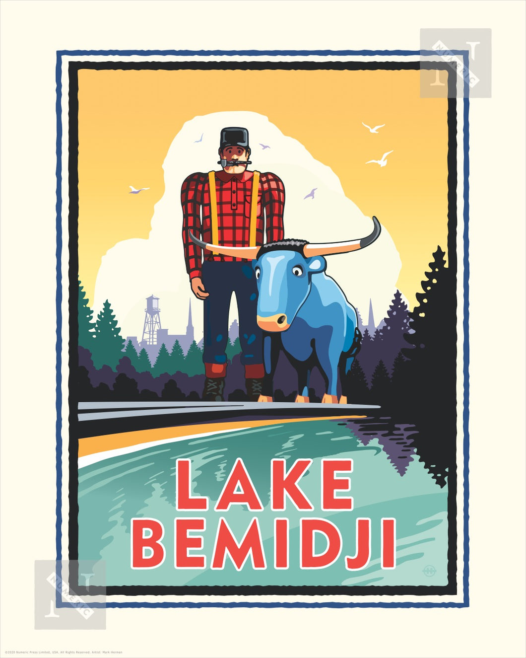 Lake Bemidji - Landmark Series Print