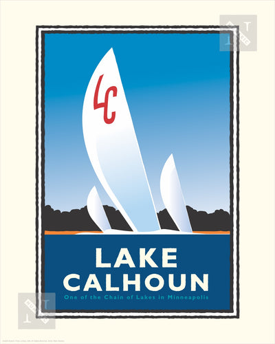 Lake Calhoun - Landmark Series Print