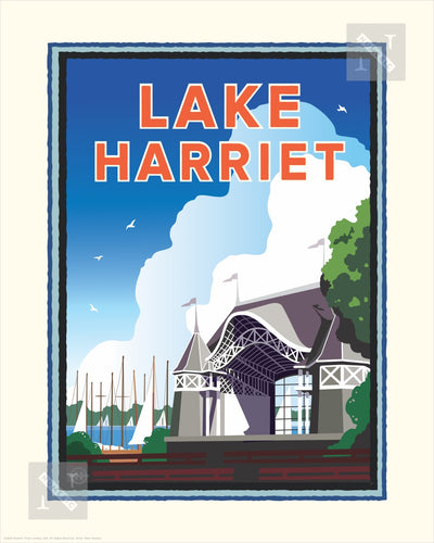 Lake Harriet Bandshell - Landmark Series Print