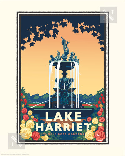 Lake Harriet Rose Garden - Landmark Series Print