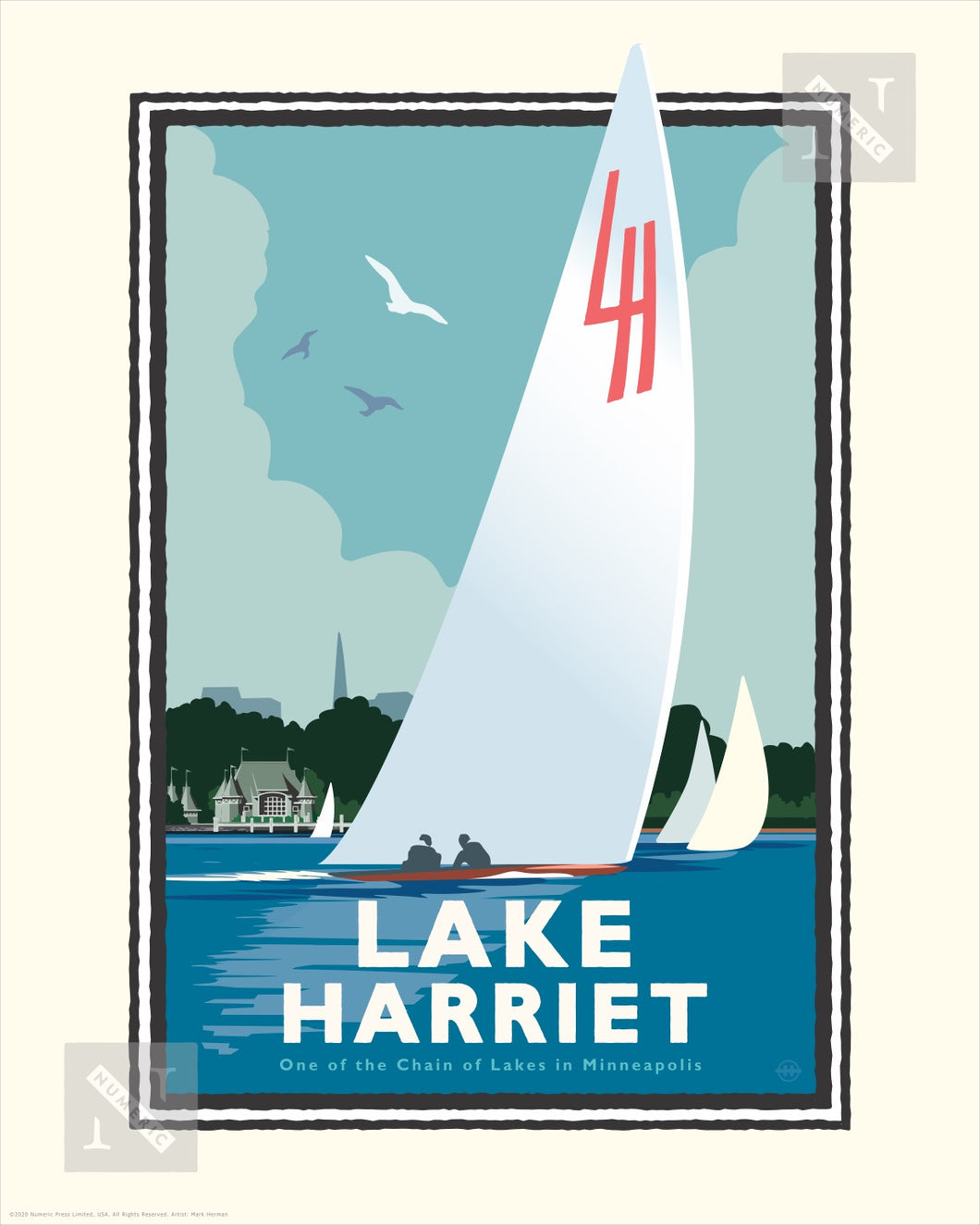 Lake Harriet Sail - Landmark Series Print