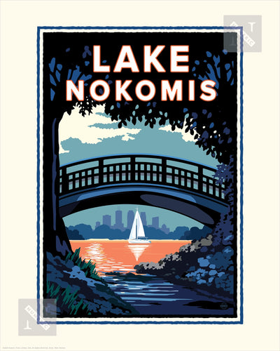 Lake Nokomis Bridge - Landmark Series Print