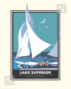 Lake Superior Sail - Landmark Series Print