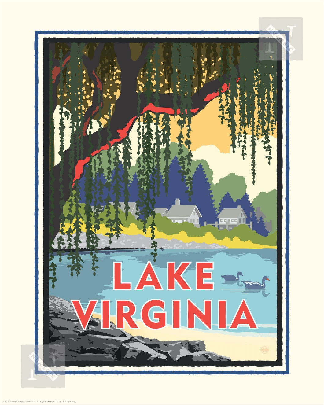 Lake Virginia - Landmark Series Print