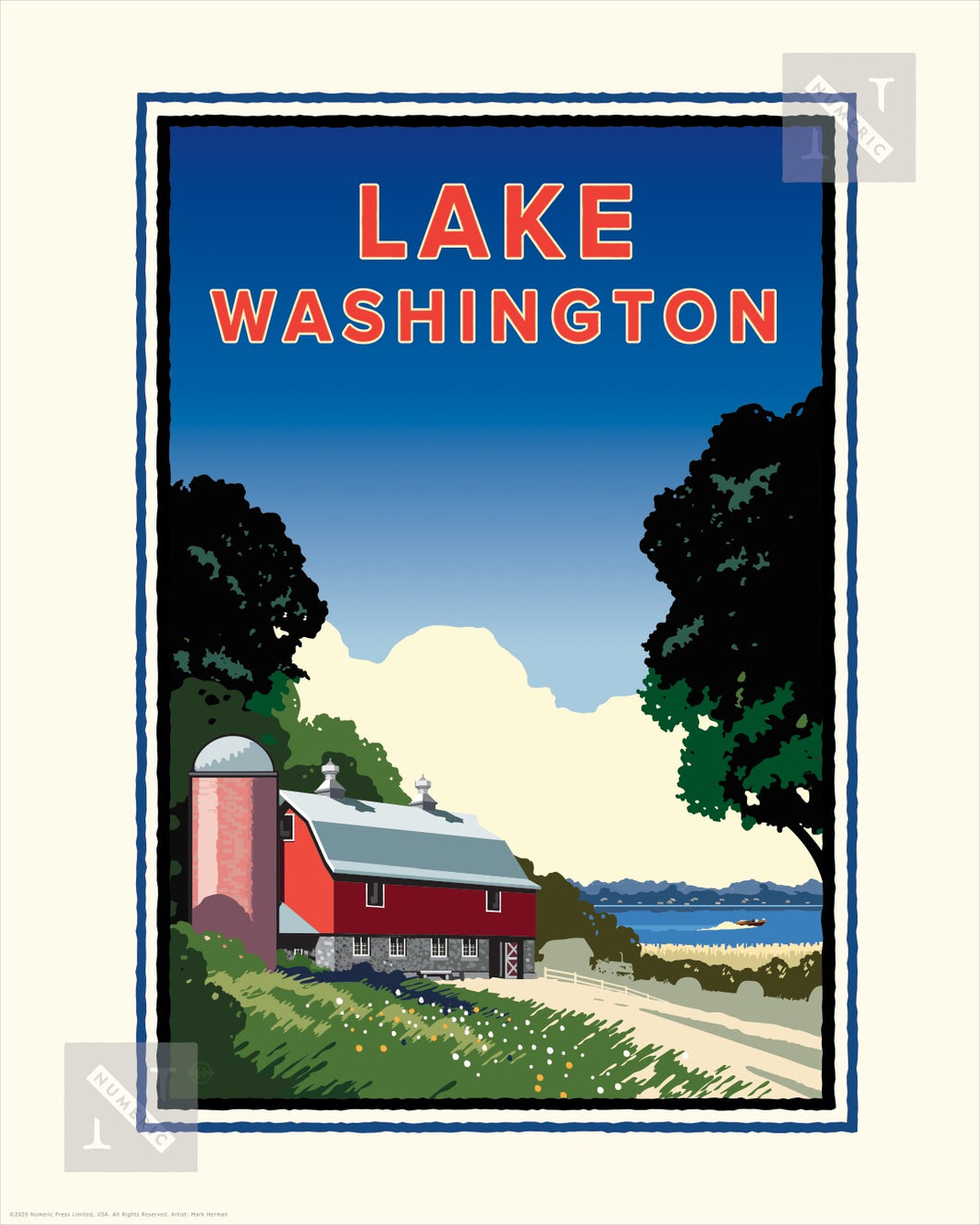 Lake Washington - Landmark Series Print