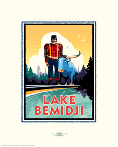 Lake Bemidji - Landmark Series Card