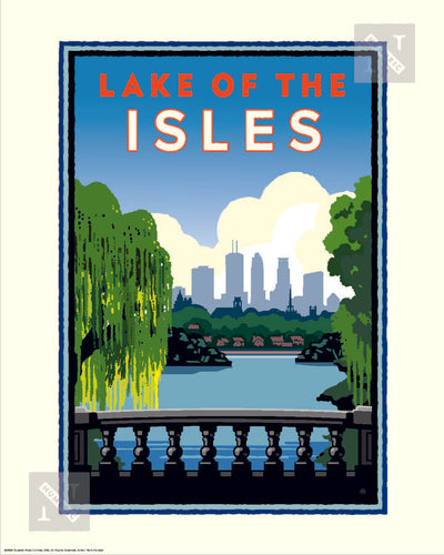 Lake of the Isles City View - Landmark Series Print