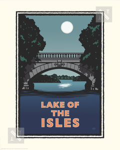 Lake of the Isles Night - Landmark Series Print