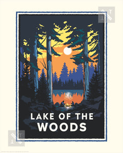 Lake of the Woods - Landmark Series Print