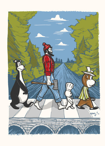 MN Abbey Road Postcard