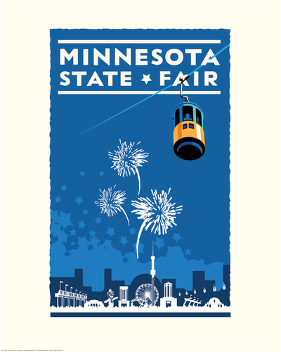 Minnesota State Fair Blue - Landmark Series Print
