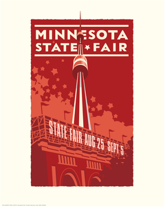 Minnesota State Fair Red - Landmark Series Print