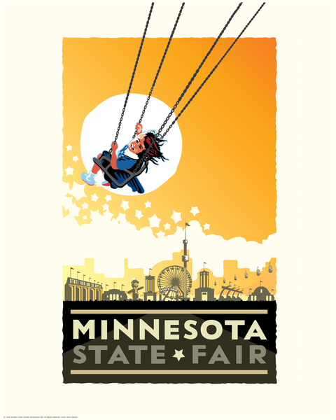 Minnesota State Fair Yellow - Landmark Series Print
