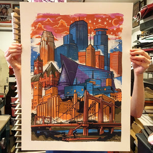 Minneapolis Skyline Print