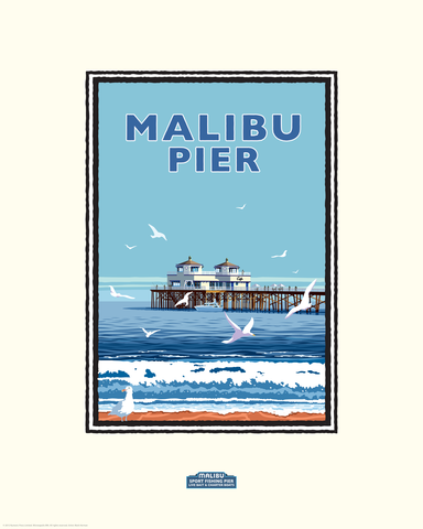 Malibu Pier Day - Landmark Series California Print
