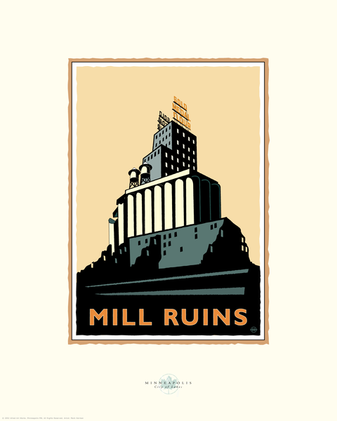 Mill City Ruins - Landmark Series Card
