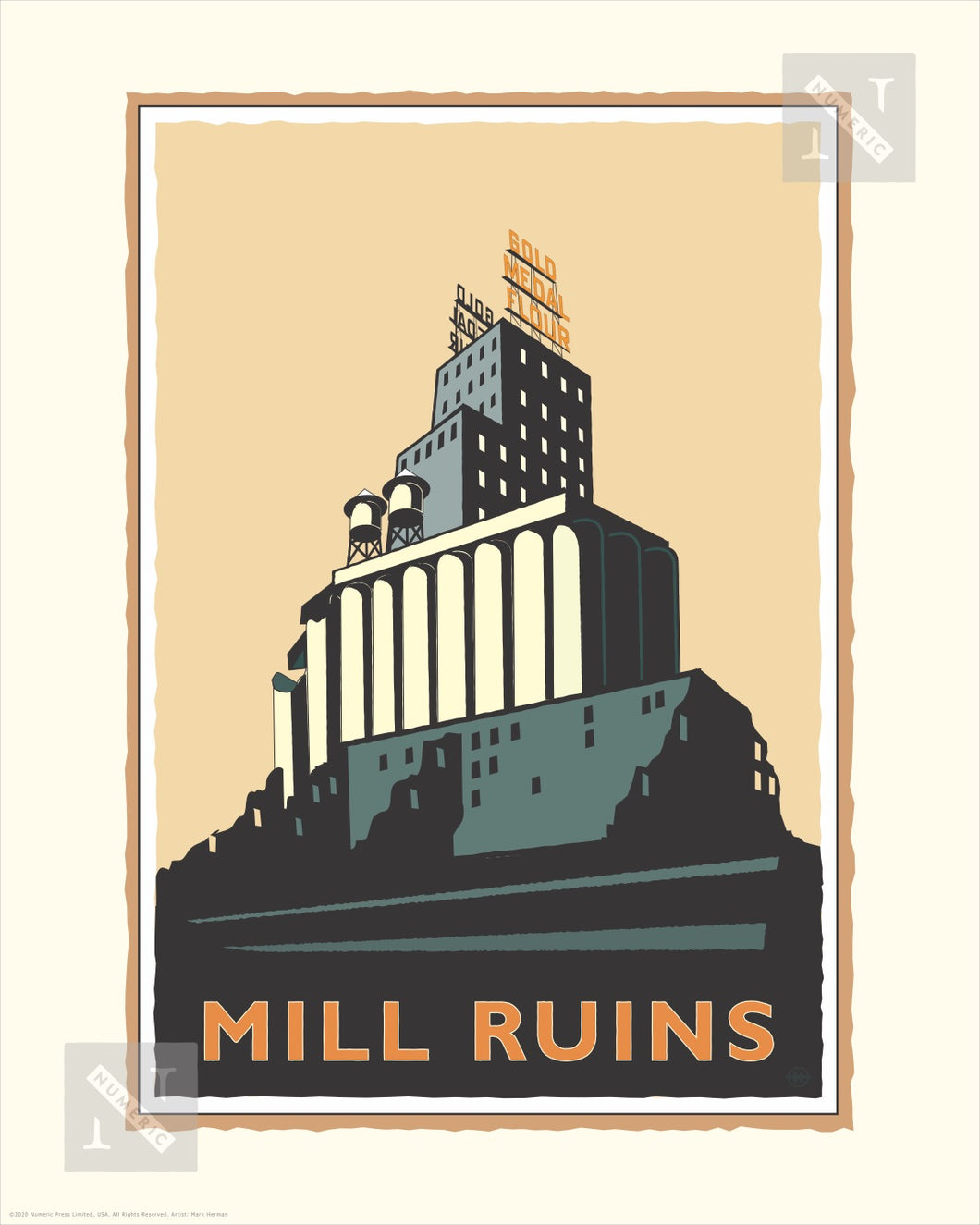 Mill City Ruins - Landmark Series Print